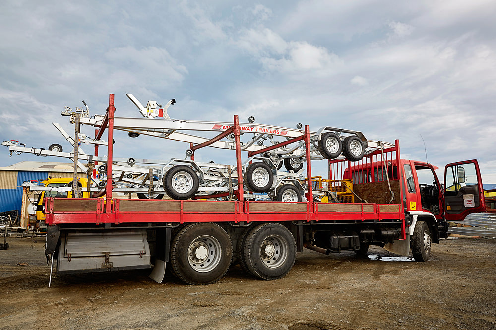 A load of Mudgway trailers